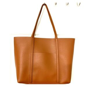 Brown Leather Tote from Urban Outfitters